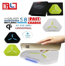 Wholesale uk style - Q500 Qi Wireless Phone Charger New Style Triangle 3 Color For Samsung Galaxy S8 Iphone 8