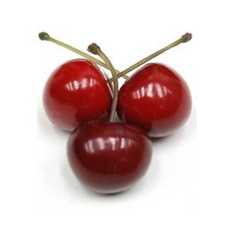 Wholesale Plastic Party Tables - Home Artificial Cherries Decorative Plastic Fruit Party Decor Red Cherry Cherries Decor home table decoration Christmas