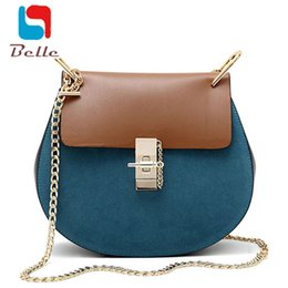 Wholesale Casual Messenger Bags For Women - Wholesale-Women messenger bags handbags women famous brands chain shoulder bag designer high quality dollar price crossbody bags for women