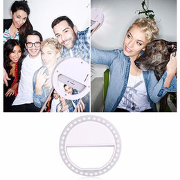 Wholesale Iphone Led Bulb - Selfie Ring Light 36 LED Selfie LED Camera Light Selfie Ring Flash Fill Light Camera Photography for iPhone 8 7 6 PLus iPad Samsung Galaxy