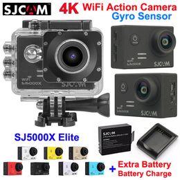 Wholesale Image Sensor Cmos - Original SJCAM SJ5000X Elite WiFi Sports Action Camera 4K 24fps 2K 30fps Gyro Sensor Waterproof Video Camera +Battery Charger+Extra Battery