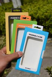 teléfonos celulares windows Rebajas Caja de empaquetado al por menor del claro de la ventana del PVC del papel del paquete del teléfono celular universal dual del color para el iPhone Samsung HTC LG debajo del teléfono de 5.5 pulgadas