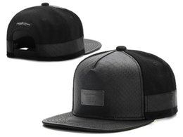 Wholesale New Hats Era - New Cayler Sons black Leather Snapback hat Flower sport hip pop bone baseball snapback caps for men women gorras sun era hat