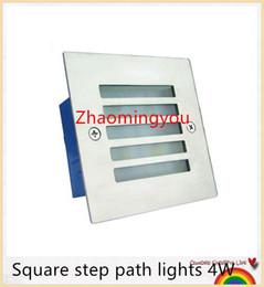 Livraison gratuite Square étape chemin lumières 4W 400lm AC 85-265V ulter lumineux haute puissance led luminaires en aluminium étanche extérieure led lampe ? partir de fabricateur
