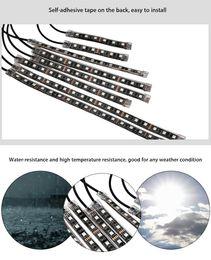 Wholesale Led Multi Color Kit - 10pcs Multi-color Remote Control Motorcycle LED Atmosphere Lamp Flexible Strip Glow Light,LED strip ligth is 5050 RGB