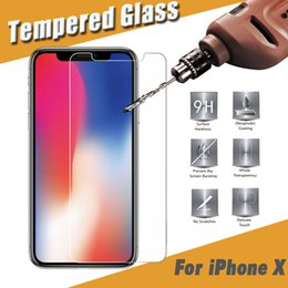 Wholesale Explosion Proof Glasses - Tempered Glass Screen Protector Film Guard 9H Hardness Explosion Proof Protective For iPhone X 8 7 Plus 6 6S Samsung Note 8 S8 S7 Edge