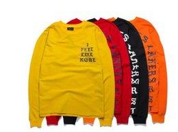 Kobe camicie online-T Shirt uomo Mi sento come Kobe Pablo Real Life di Pablo Season Y 3 Kanye West Black a maniche lunghe