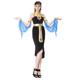 Wholesale Women Cleopatra Costume - Cleopatra was the Greek goddess of dress High quality Halloween games cosplay clothing stage clothing uniform temptation