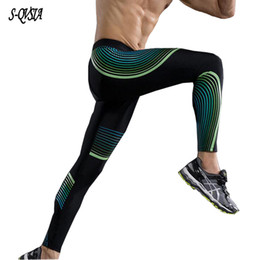 Gymming Leggings Men Fitness Workout Leggings Summer Sporting Thin Strip Fitness Male Long Pants Modern Design Sports & Entertainment