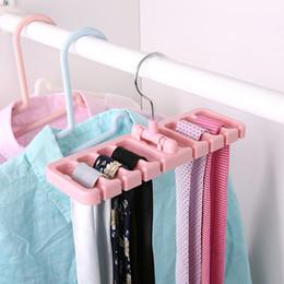 Wholesale Scarves Multi Hanger - Creative Belt Storage Rack Multi Function Scarf Necktie Household Coat Hanger Non Slip Multicolor Optional Hot Sale 3 2pr J R