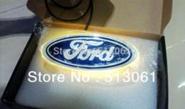 Wholesale Led Ford Badge - New Arrival 4D EL led car logo decorative lights For Ford Series car badge LED lamp Auto emblem led light Free shipping