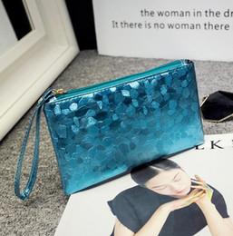 Wholesale Mobile Phone Bag Purse Wallet - Women Sequins Zipper Clutch Bag Phone Wallet Purse Key Coins Handbag Pouch Bags Storage bag Cosmetic Bags Mobile phone bag 6 Colors