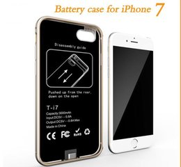 Wholesale Extended Battery Pack - for iPhone 7 Power Bank Battery Wireless Charger Case Rechargeable Extended Power Bank Case Pack Backup External Battery Case