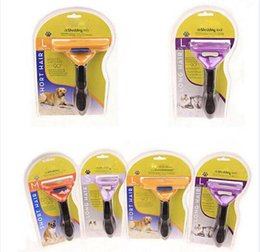 Wholesale Clipper For Pet Dog - Pet Brush for Dog and Cat deShedding Tool Grooming Yellow Long Hair Short Hair Expert deshedding Edge Designer