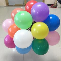 Balões decorativos de casamento on-line-10 Polegadas de Látex Balão Livre Partido Decorado Balão de Cores Sortidas de Cor Sólida Rodada Balões de Festa de Casamento Ornamentos