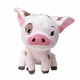"""Wholesale Collectible Pigs - New Hot 8.5"""" Moana Plush Doll Pet Pig Anime Collectible Animals Dolls Kid's Party Gifts Soft Stuffed Toys"""
