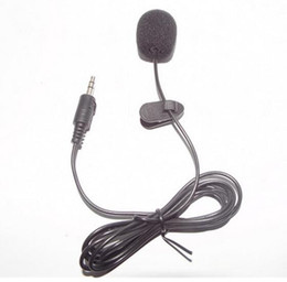 Wholesale Msn Headset - 1.5M Mini 3.5mm Hands Free Clip On Mini Mic Microphone For PC Notebook Laptop MSN