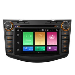 "Wholesale toyota gps radio system - COIKA 8"" Android 8.0 System Car DVD Player For Toyota RAV4 2007-2011 Octa Core 4+32G RAM GPS Navi Stereo WIFI 4G OBD DVR Mirror Screen BT"
