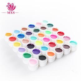 Wholesale Nail Gel Solid Color - 36 Colors Nail UV Builder Gel polish Solid Color UV builder Nail Gel DIY Nail Art Tips Gel Beauty