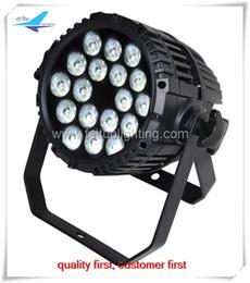 Wholesale Par Led Rgbaw - 4 lot led par 64 stage light,18x18w 6in1 rgbaw uv waterproof ip65 par led