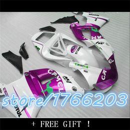 Wholesale Body Kit Yamaha R1 Purple - Purple white Body For 98-99 YZF-R1 1998 1999 YZF 1000 NEW Purple YZFR1 R1 YZF1000 98 99 YZF R1 Fairing Kit