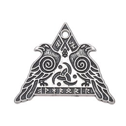 Wholesale Odin Pendant - Wicca Series Pendant Valknut Odin 's Ravens Charms For Neckalces Bracelets Earrings for Man and Woman