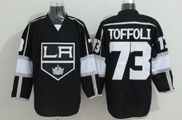 Хоккейные трикотажные изделия онлайн-Дешевые 73 Tyler Toffoli LA Kings хоккейные майки Лос-Анджелес Кингс спортивная команда цвет черный чистый хлопок дышащий вышивать качество