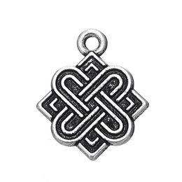 Wholesale Silver Neckalces - My shape Antique Silver Plated Classic Religious Charm Knot Charms pendant for Neckalces & Bracelets Free Fast Shipping