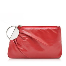 Wholesale Plain Clutch Bags Purses - H1172 sexy party queen Evening Bag Nobel Women's Solid Red Zipper Purses Clutch Bag Party Bag FREE SHIPPING DROP 0.05