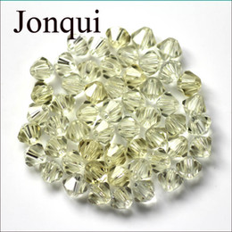 Wholesale Wholesale Glass Rondelle Bead - hotsale Bicone 4mm 2000pcs White Black Mixed Color Craft Multi color Rondelle glass Crystal Beads Bracelet DIY spacer jewelry Findings