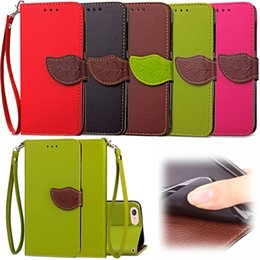 Wholesale Leather Clasps For Wallet - Strap Leaf Clasp Flip Wallet Leather Pouch Case For Iphone 7 Plus I7 Iphone7 Huawei P8 Lite 2017 Photo ID Card Stand TPU Phone Cover 150pcs
