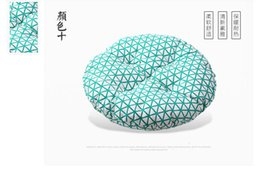 Wholesale Chairs Black Silver Color - free shipping 2016 New Comfortable Thick 38*38cm Home Office Round Seat   Back  Chair Cushion Decoration Bay Window Cushion Cojines