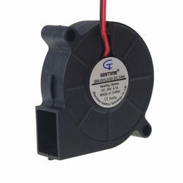 Wholesale Dc Brushless Blower - Wholesale- 1PCS Gdstime 5cm 50mm x 15mm DC 24V 2Pin Brushless Cooing Cooler Small Mini Centrifugal Blower Fan 5015