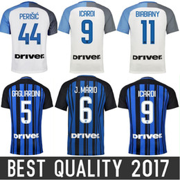 Wholesale Thai Wholesale Jersey - Thai quality 2017 18 inter home away Soccer jersey CANDREVA ICARDI EDER PERISIC 2018 Milan Maillot de foot football shirts Free DHL ship