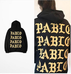 Wholesale Rap Hoodies - 2016 Pablo Paris Hoodies I feel like pablo Sweatshirts Kanye Rap Black White Hoody Pullovers Men Sweatshirts