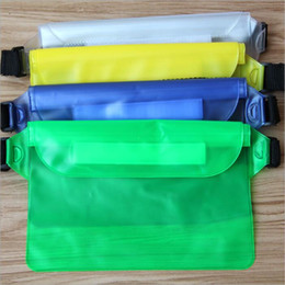 Wholesale Water Drift Bags - Summer whole size PVC waterproof Waist bag Pouch Outdoors drift swimming sports 3 layer sealed pocket For iPhone 8 7 plus 6s Samsung s8 s7