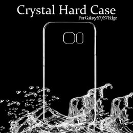 Wholesale Hard Transparent Plastic - For Samsung S7 S6 Edge S5 Case S7Edge Clear Crystal Transparent Ultra Slim Plastic Hard Back Cover For Galaxy G9300 i9600