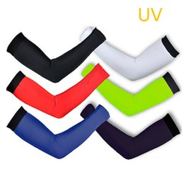 Wholesale Uv Protection Arm Sleeves - Breathable Quick-Dry Bike Bicycle Cycling Arm Warmers Cycle Oversleeve Clothing Covers UV Protection Armwarmers Sleeves For Men