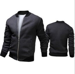 Wholesale Long Military Style Jacket - 2017 Fashion Hi-Street Mens Military Style MA1 Bomber hip hop Jacket Black Mens Slim Fit Hip Hop Varsity Baseball Jacket
