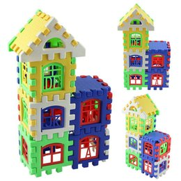 Wholesale Free Construction - 24pcs Baby House Building Blocks Construction Toy Kids Brain Game Learning Educational Toys Free shipping