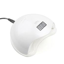 2019 configuración de la secadora Caliente 48W UV Lámpara LED Secador de uñas SUN5 Lámpara de uñas con pantalla LCD Auto Sensor Máquina de manicura para curar UV Gel Polish
