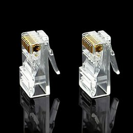 Wholesale utp plug - 2017 clear Crystal RJ45 8P8C CAT5 cat6 Ethernet Lan Network cable for UTP Solid Stranded Network Cable Heads 7E