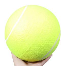 Гигантские шарики онлайн-День рождения Partygift Big Giant Pet Dog Puppy Теннисный мяч Метатель Chucker Launcher Play Спорт на открытом воздухе с супер толстыми стенами из натурального каучука