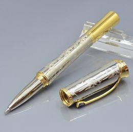 Caneta monaco on-line-Best-seller-alta qualidade Monaco Princesa Grace kelly padrão de escultura Roller ball pen com luxo diamante cap MB escrever canetas de presente