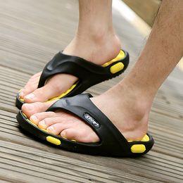 Wholesale Canvas Beach Shoes For Men - Summer new outdoor slippers for men massage bottom mens flip flops beach sandals men's casual shoes slipper wholesale Flip flops