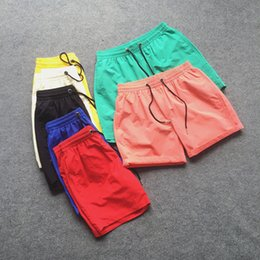 Wholesale Wholesale Basketball Candy - Wholesale-2016 Summer Style Men Basketball Sport Shorts Candy Color Quick Drying Short Beach Shorts Casual Shorts Masculino 7 Colors CH040