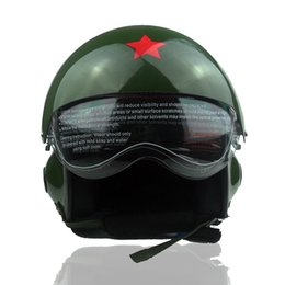 Wholesale Electric Car Ride - 2017 Fiberglass Pilot motorcycle helmet Electric car riding helmets Men and women flying helmet winter Helmet