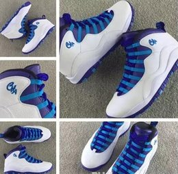 Wholesale Flag Suede - 2017 New men shoes air Retro 10 X City Pack CHI Chicago Flag Charlotte Hornets NYC 10s basketball shoes women sports boots 36-47