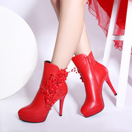 Wholesale Tall Boots For Women - winter bride sexy joker point 11.5 cm tall and thin with short tube Martin boots for women's shoes