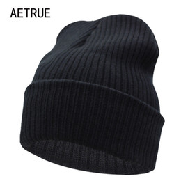 knitted beanie wholesale Coupons - Beanies Winter Hat For Men Knitted Hat  Women Winter Hats For c3d89a527061